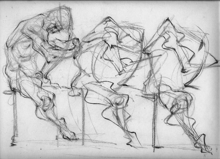 drawing Three Brain Man.