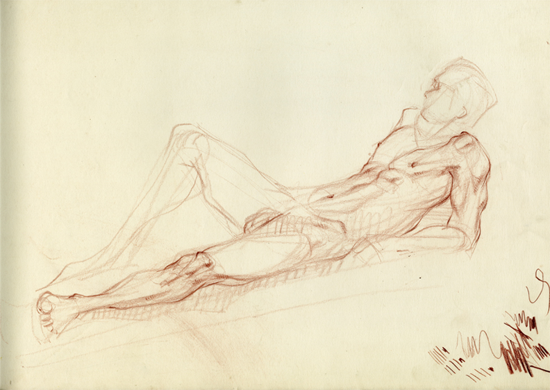 reclining fig -red iron oxide